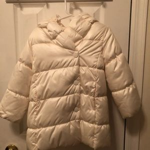 Baby Gap Ivory Color Girls Jacket